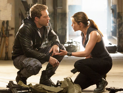 Kyle Reese as Sarah Connor.